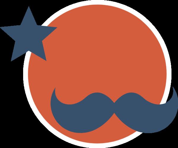 小胡子圆圆形图标图形