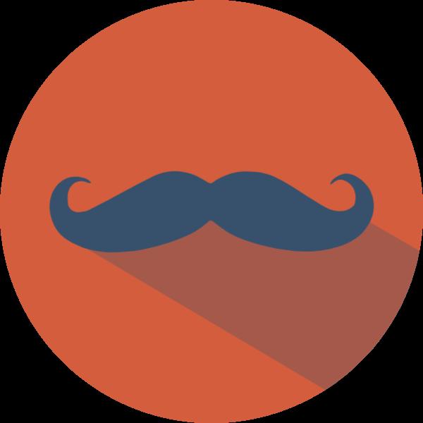 圆形图标小胡子圆装饰