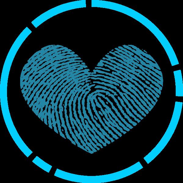 爱心指纹标示符号形状
