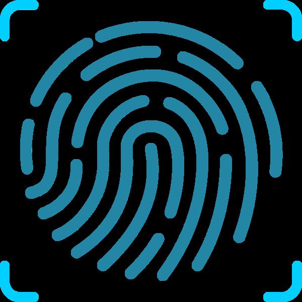 指纹图形环形手印身份