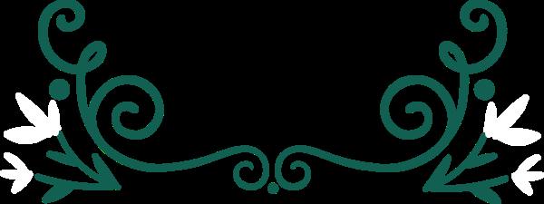花纹边框复古花框绿色