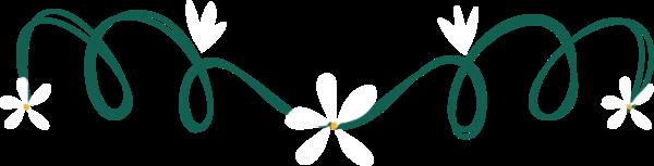 花纹花环手绘绿色文艺