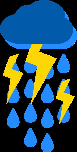 暴雨闪电下雨气候气象