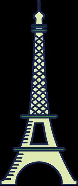 巴黎铁塔塔电视塔房屋建筑