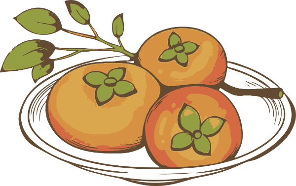 柿子水果食物盘子季节
