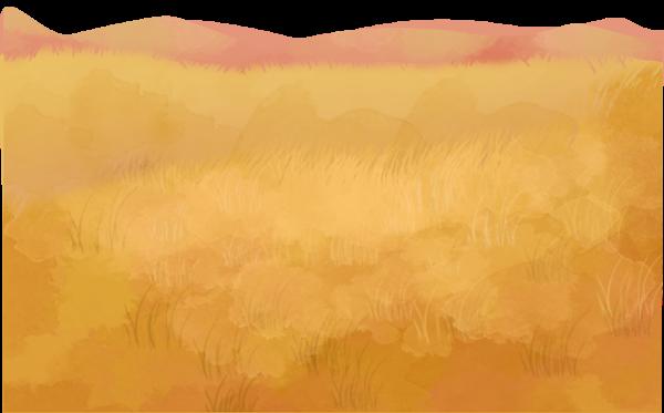 山坡草原草地装饰装束元素