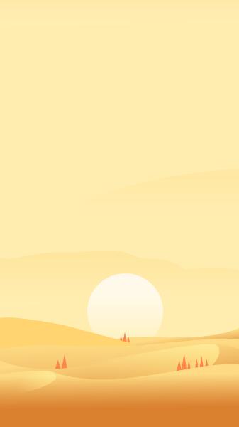黄昏日落大漠背景图片