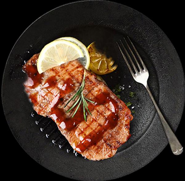 盘子餐具牛排牛肉肉类