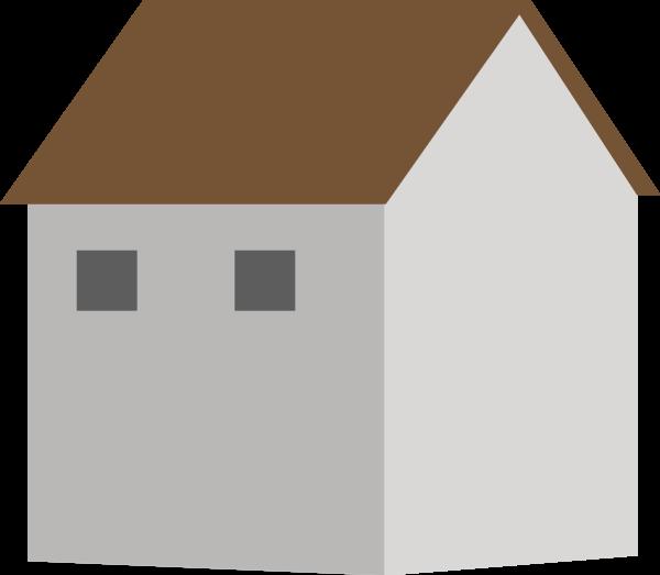 房子房屋楼房剪影模型