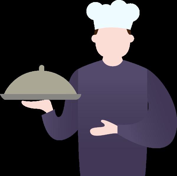 人人物人像厨师上菜