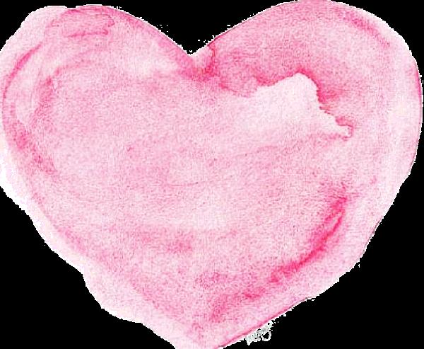 爱心矢量手绘水粉亲情