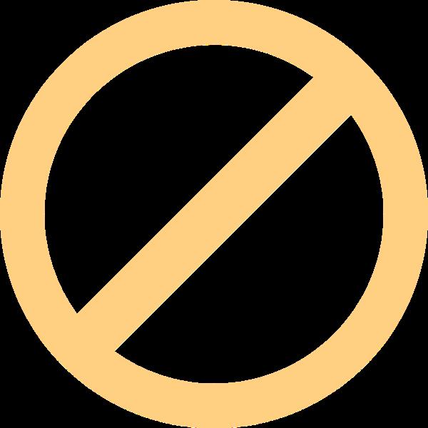 禁止圆手绘矢量圆圈