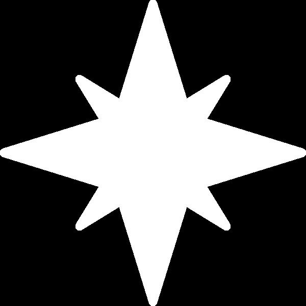 星星装饰元素对称装饰排列