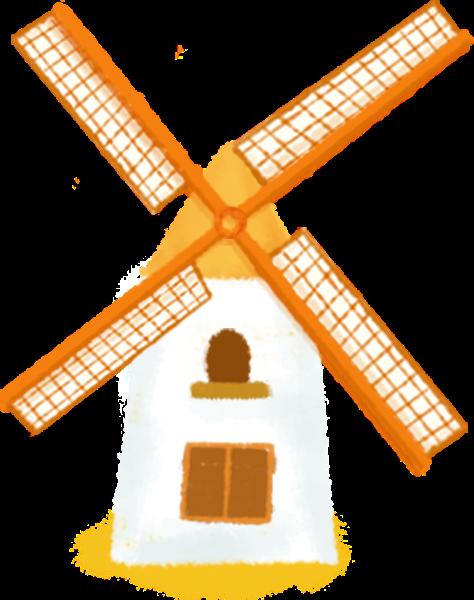 风车工具旋转建筑房屋