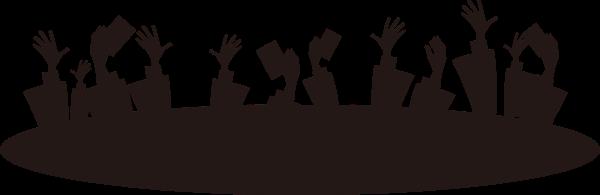 手影子剪影人物组合人物