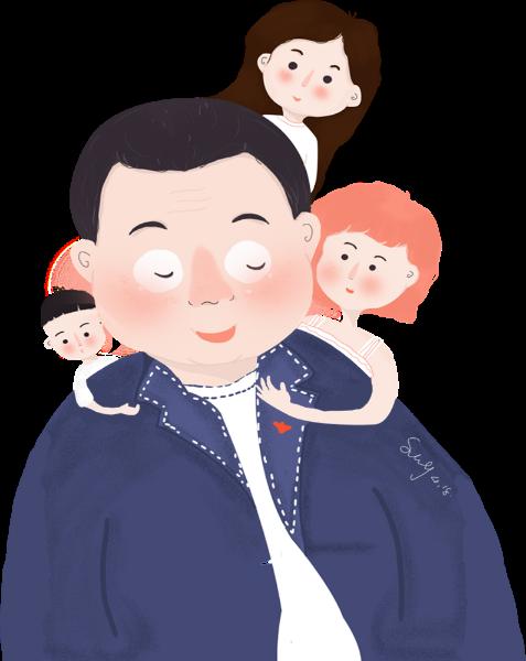 拥抱父女男人小孩孩子