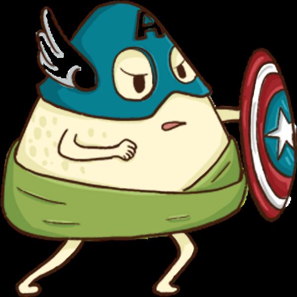 粽子美国队长端午端午节对抗