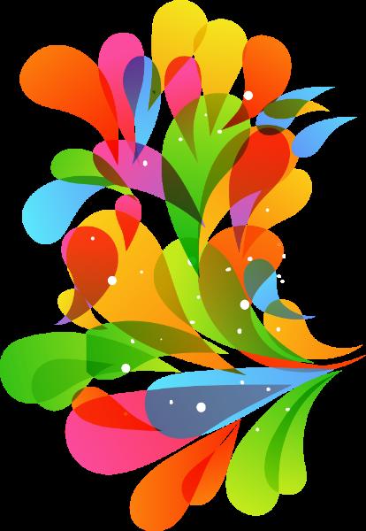 彩色底纹水滴卡通装饰