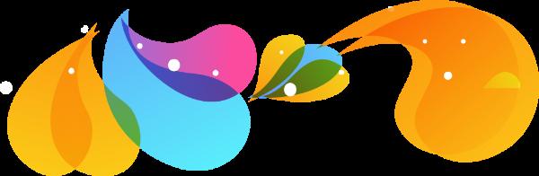 彩色底纹水滴水卡通