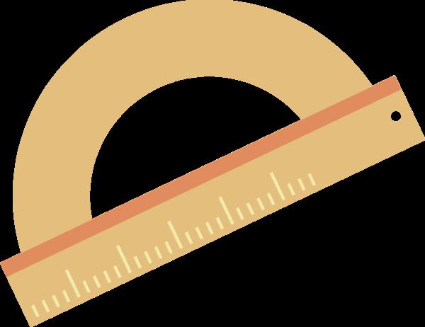 文具量角器尺規直尺作圖