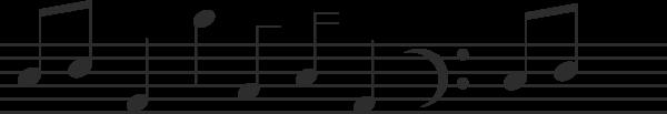 乐谱五线谱音符乐符音标