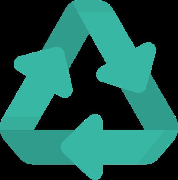 环保循环标志装饰排列