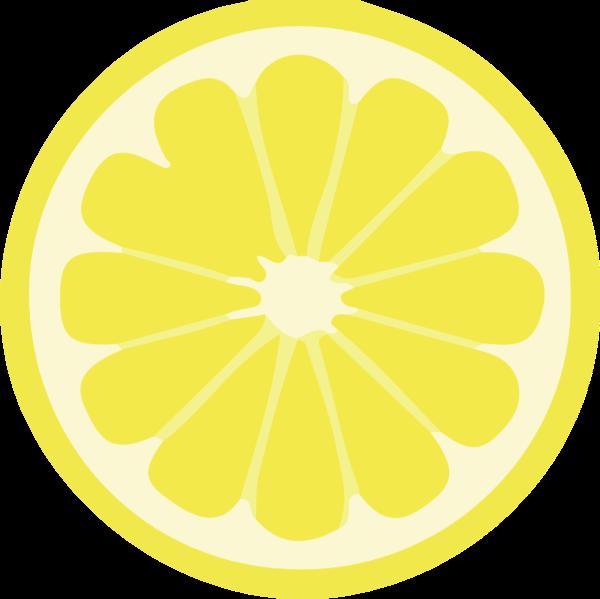 柠檬水果黄色横截面剖面