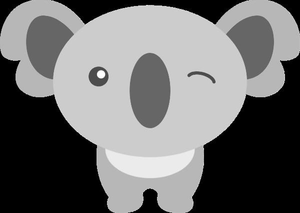 考拉树懒动物眨眼卡通形象