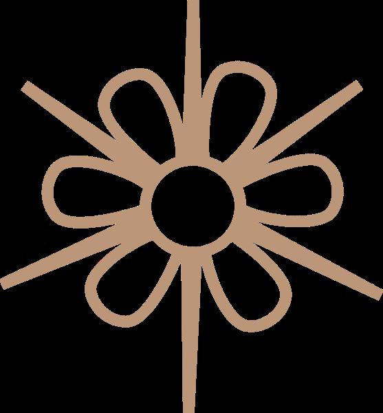 花剪纸花形装饰装饰元素