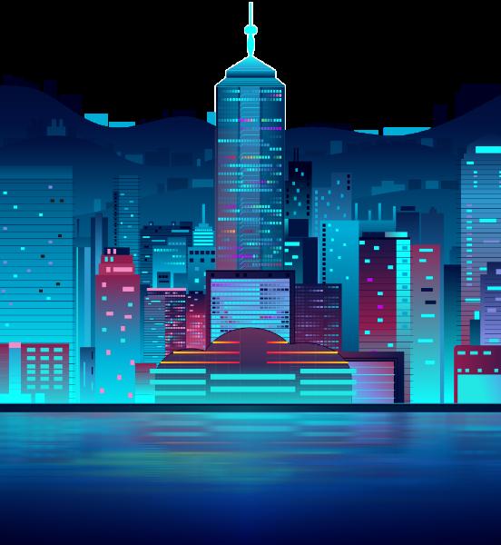背景图片夜景建筑风景