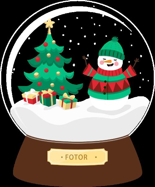 圣诞树雪人水晶球礼物礼品