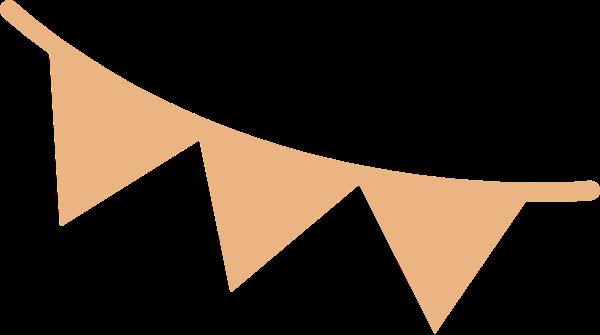 彩带节日喜庆三角形装饰
