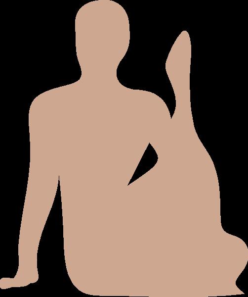 人物人瑜伽剪影运动