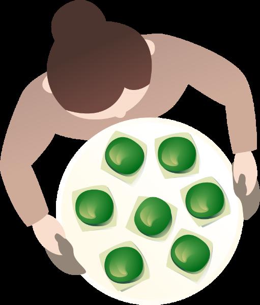 包子青团馒头食物糯米
