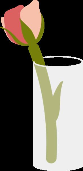 花花朵玫瑰玻璃杯插花
