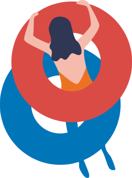女人女性人物人泳圈