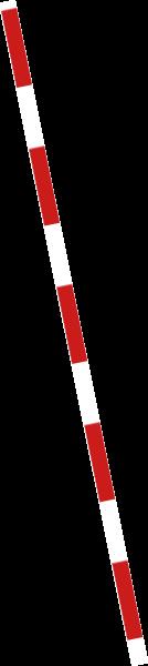 红白线段防护栏拼接棍子