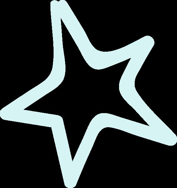 星星五角星手绘蓝色学习