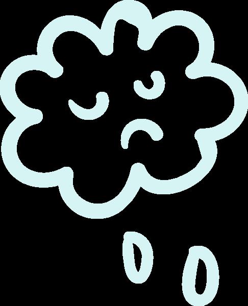 天气云朵下雨雨云蓝色