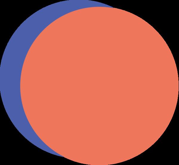 圆圆形重叠装饰排列