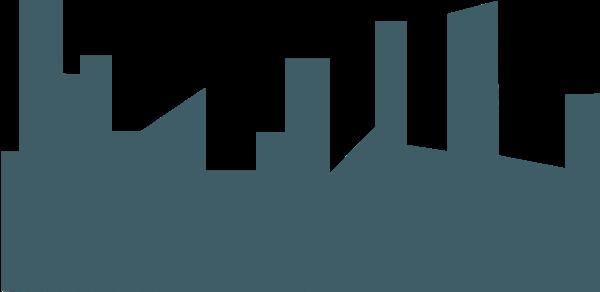 建筑城市建筑群房子剪影
