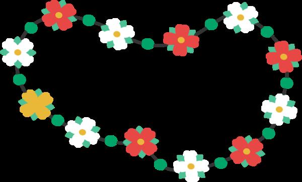 花边花环花花朵装饰