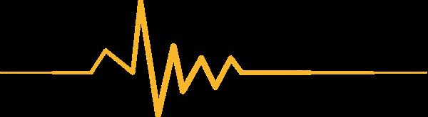 心电图声线线曲线折线
