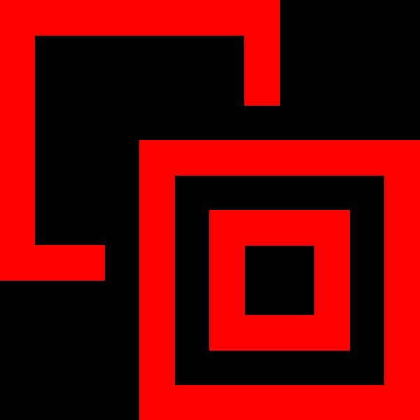 矩形方框组合重叠正方形