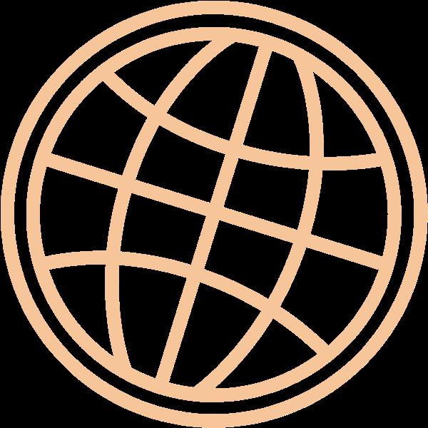 地球仪圆旅行线路装饰