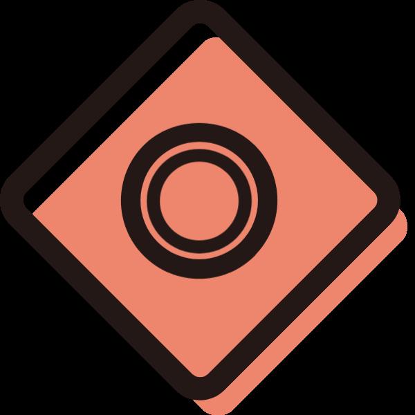 相机照相机镜头矩形icon