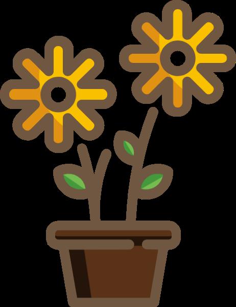 花盆栽花朵花卉小花