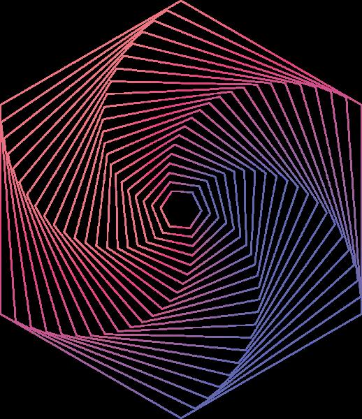 六边形风车彩色几何立体