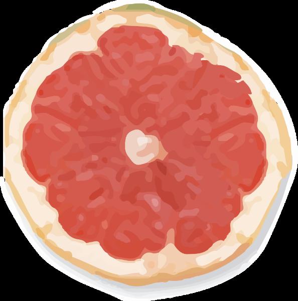 西柚柚子红色水果色块