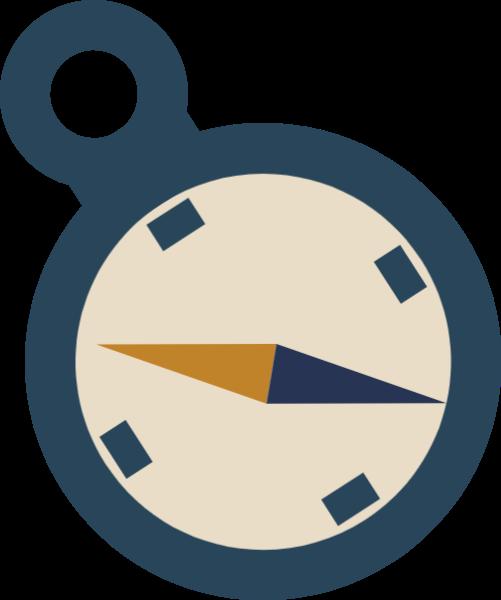 时钟表钟指南针方向